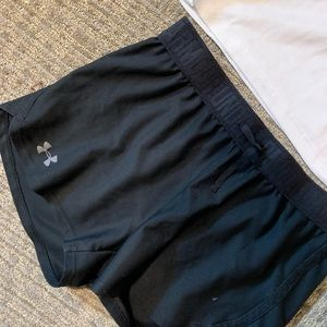 Under armor set (shorts and short sleeve top)
